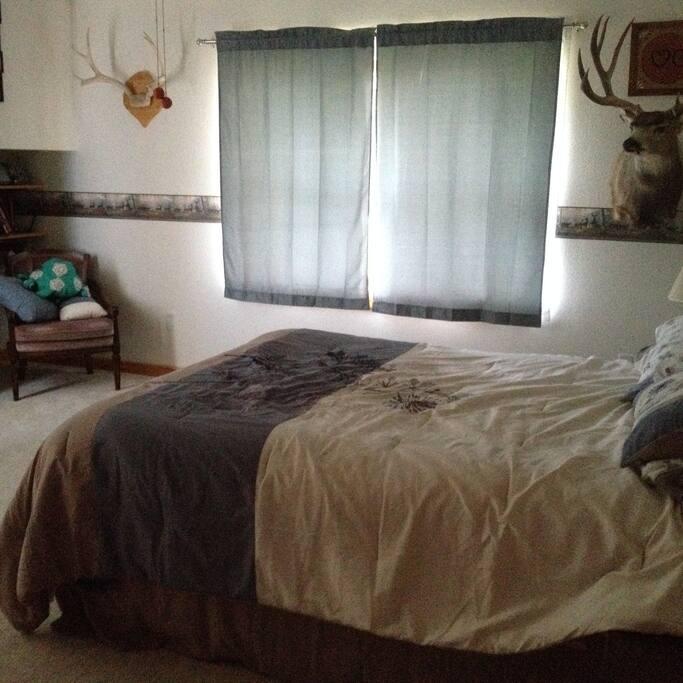 Queen Size Bed--Bens Room