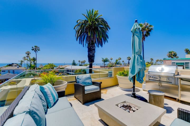 20% OFF AUG - Walk to beach, new unit with large deck and ocean views