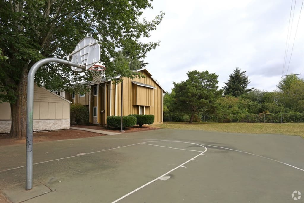 Part of the Apartment Complex - Basketball court.