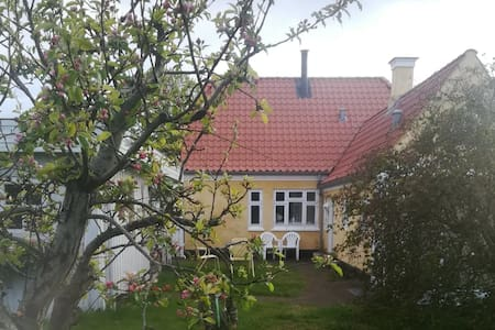 Yellow artist house 600 meters from Tversted Beach