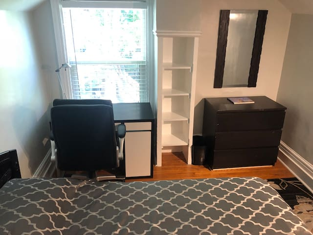Room Overlooking Garden in Great Downtown Location