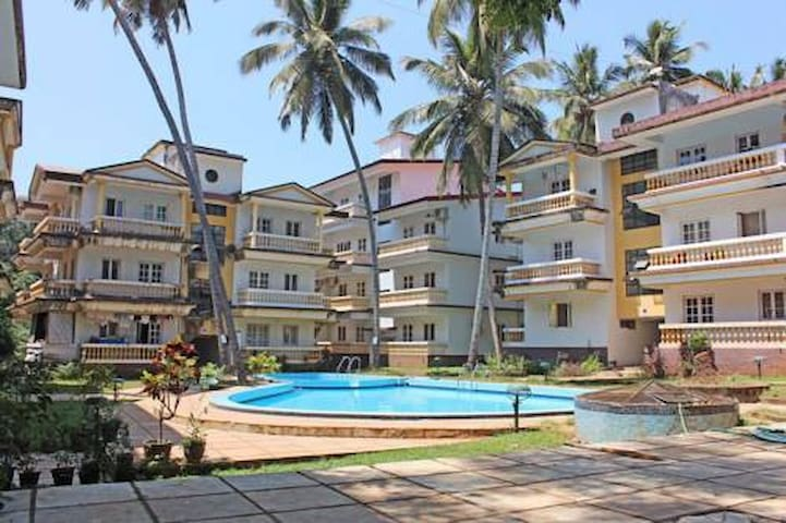 Goan Holiday stay (1Bhk, walking distance Beach)