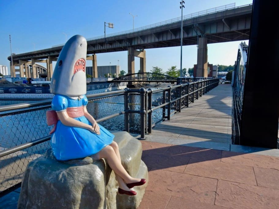 Are you ready for your selfie with Shark Girl down at Canalside?