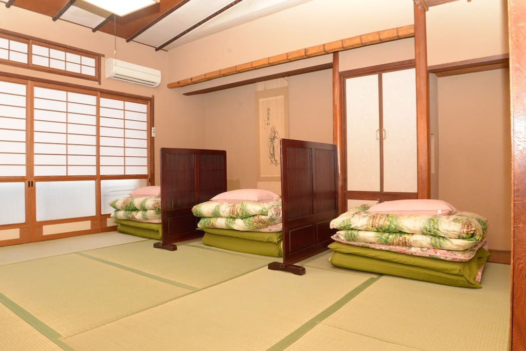 Japanese style shared room with futon