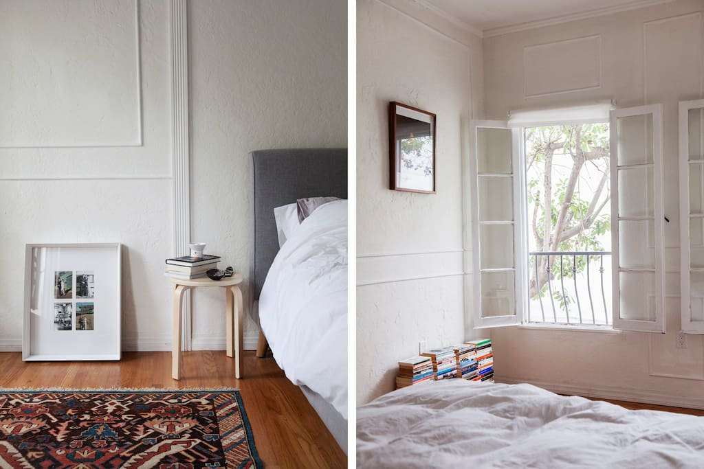 Panelled walls and windows that open up to leafy trees, a perfect place to retire to a good book.