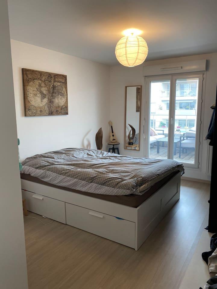 Appartement loft moderne, à la soie , métro , tram