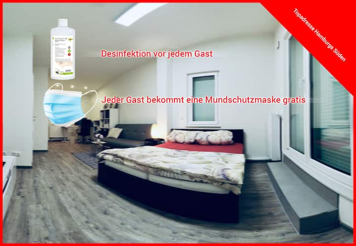 Furnished new apartment with own bathroom-terrace