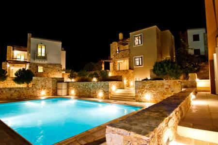 -20% early book SIROS Splendid Villa POOL & VIEW - Finikas - Wohnung