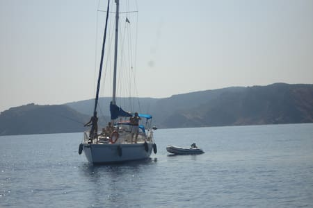 sailing boat ready for visit balear islands - Sant Andreu de Llavaneres