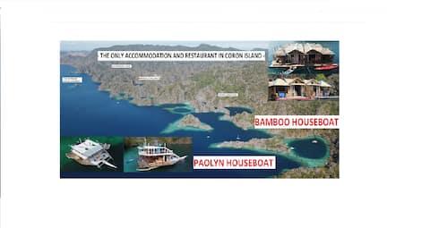 UnicornRoomThe only accom.inCoronIsland.Houseboat