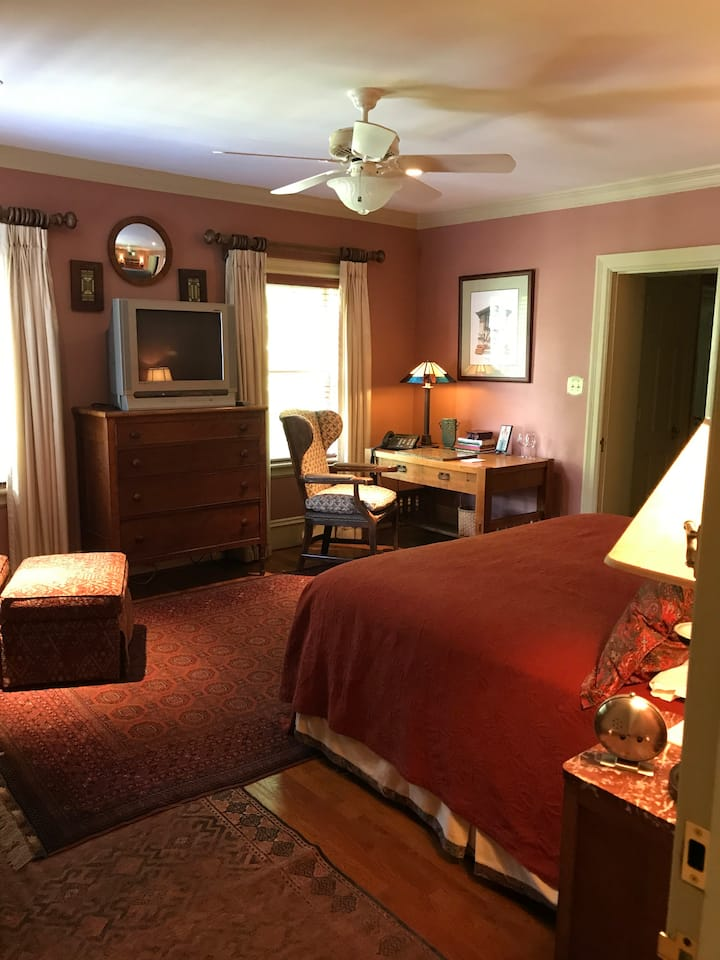 Amazing suite! King-sized bed in historic mansion