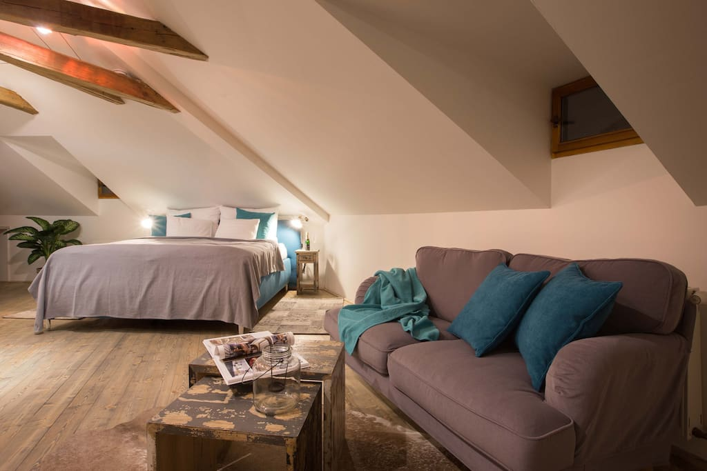 Relax in our boho-chic attic