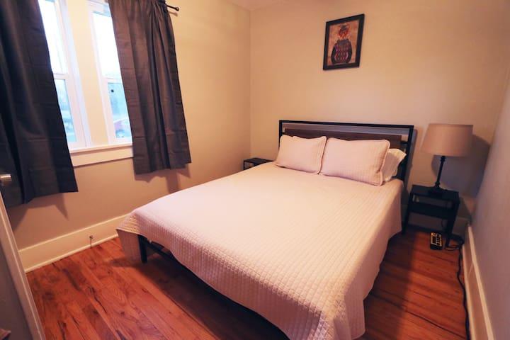 Bedroom #2, main level - new queen bed & mattress.