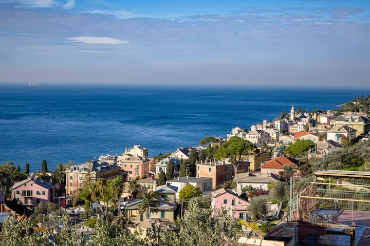 Pieve Ligure - relaxing garden and sea view house - Pieve Ligure - อพาร์ทเมนท์