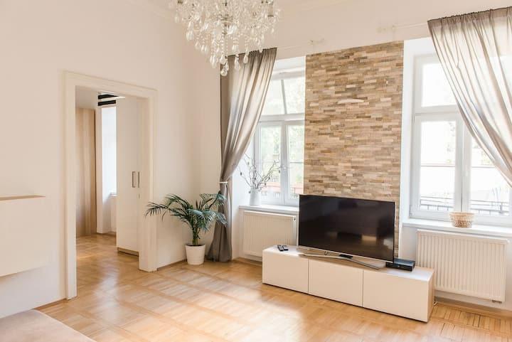 Lion apartment 2, big size, high ceilings, garden