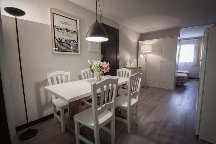 Vieux Boucau, beautiful 2-BR apartment by the lake