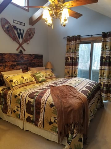 King bed in private master bedroom