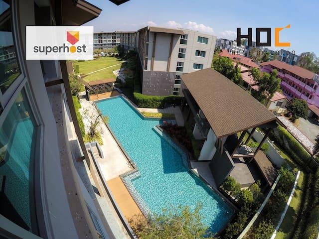 HOC1 Daily Apartment Chiang Mai CMU - Su Thep - Huoneisto