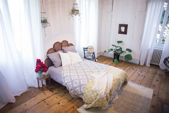 Big quiet bedroom in Vienne - Vienne - Casa