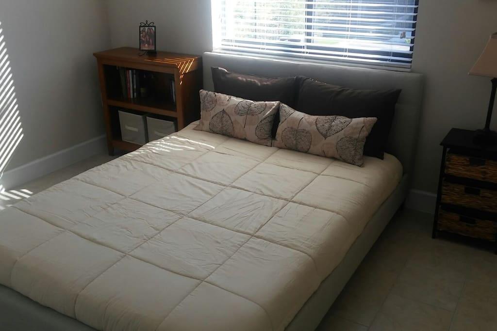 Bedroom Clean, new linen