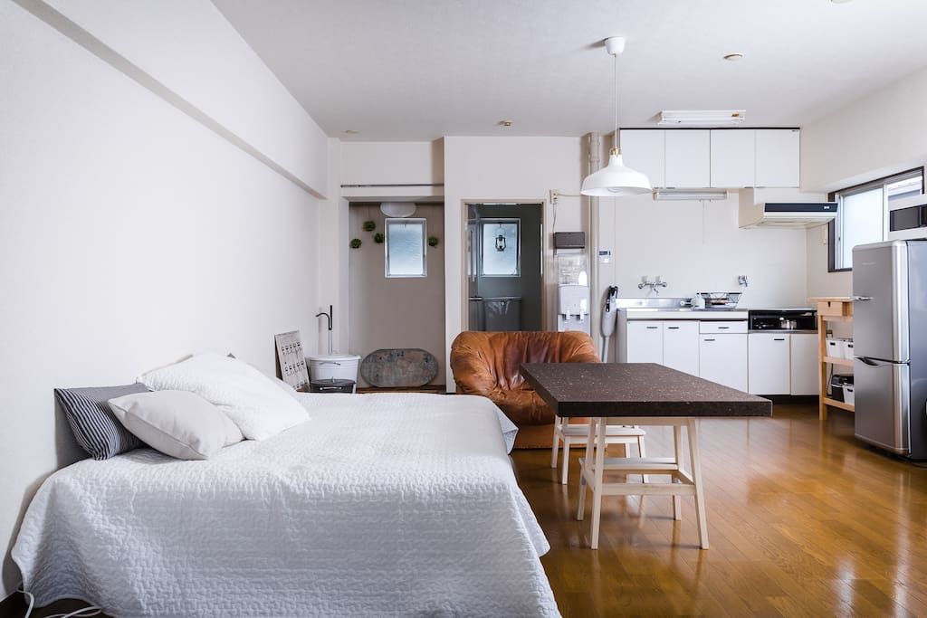 Big one room with double bed