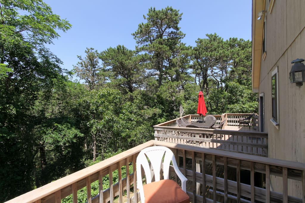 Enjoy wooded views from the third deck.