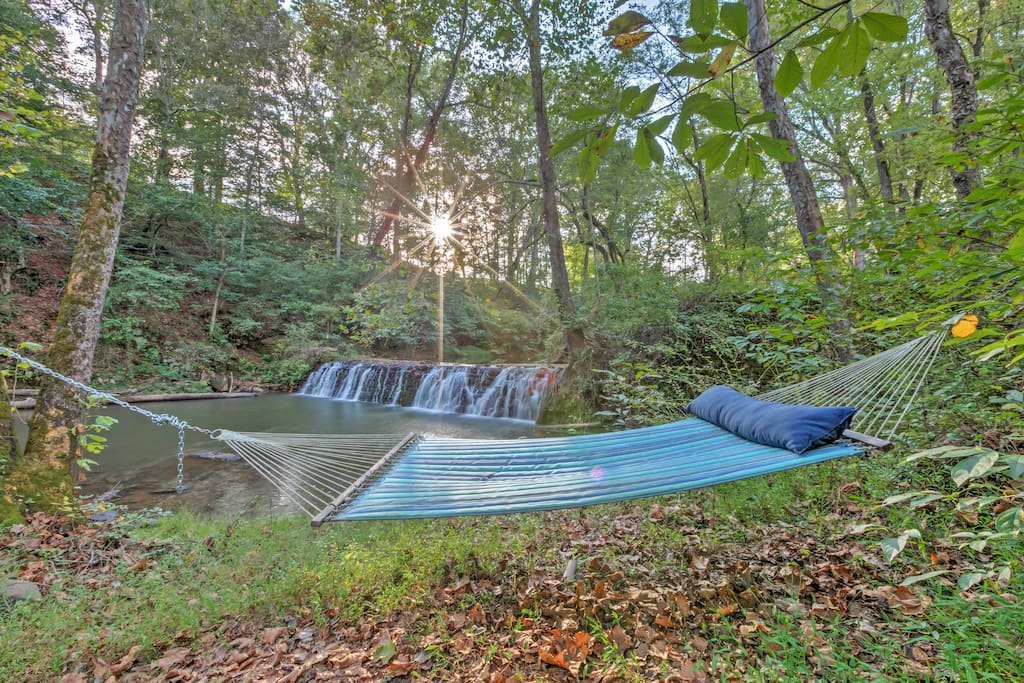 Curl up with a book in this hammock!