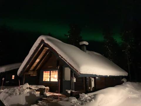 Sympatisk hytte uden naboer