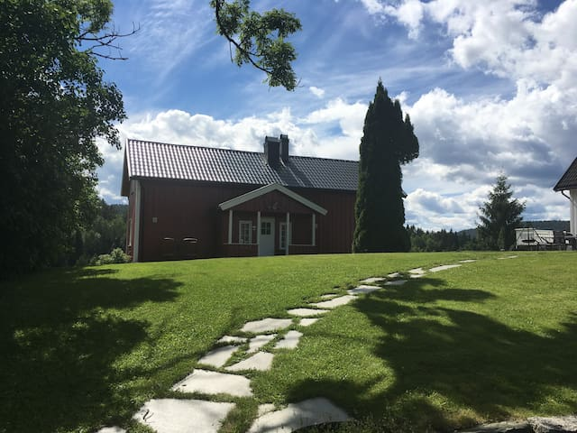 Gjestehus ved Neslandsvatn med flott utsikt