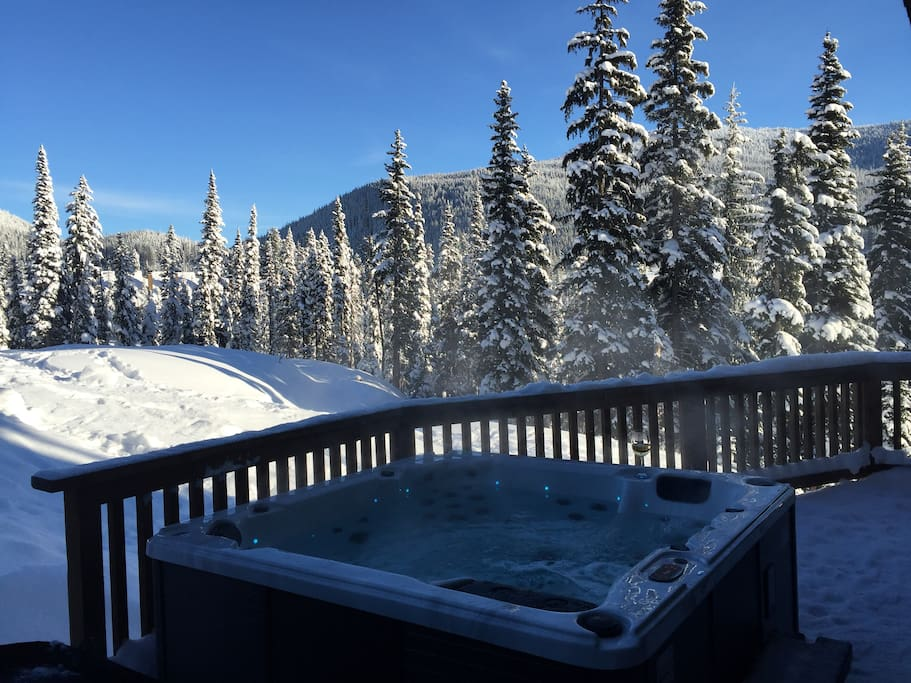 Hot tub after a great ski day