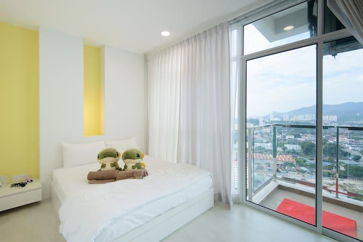 Master Bedroom View with Balcony