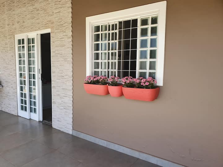 Férias numa casa casa com quintal