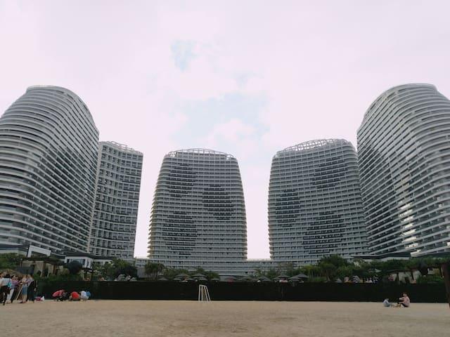 五星级酒店配套,无敌沙滩的酒店套房 - 惠州市