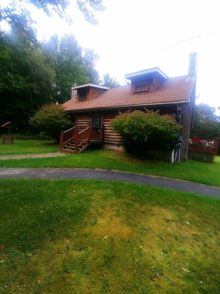 A Log Cabin house with 14 acres to explore.