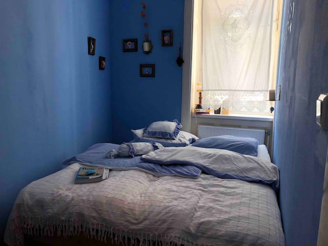 Cosy blue room in the center