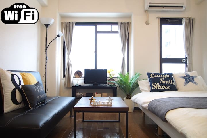 ★6min Walk JR Namba★Very Clean and 2 Beds★