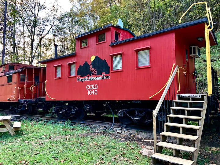 Haysi Caboose Inn.  Tiny Home Small Town Big Fun