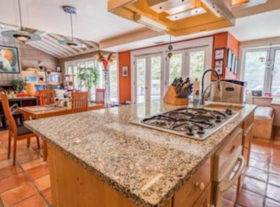 Kitchen , Dining Room, Living Room