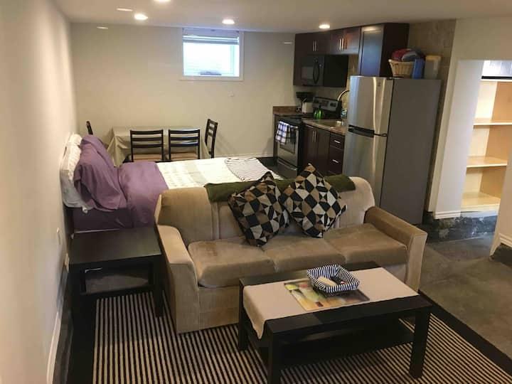 Private entry studio suite