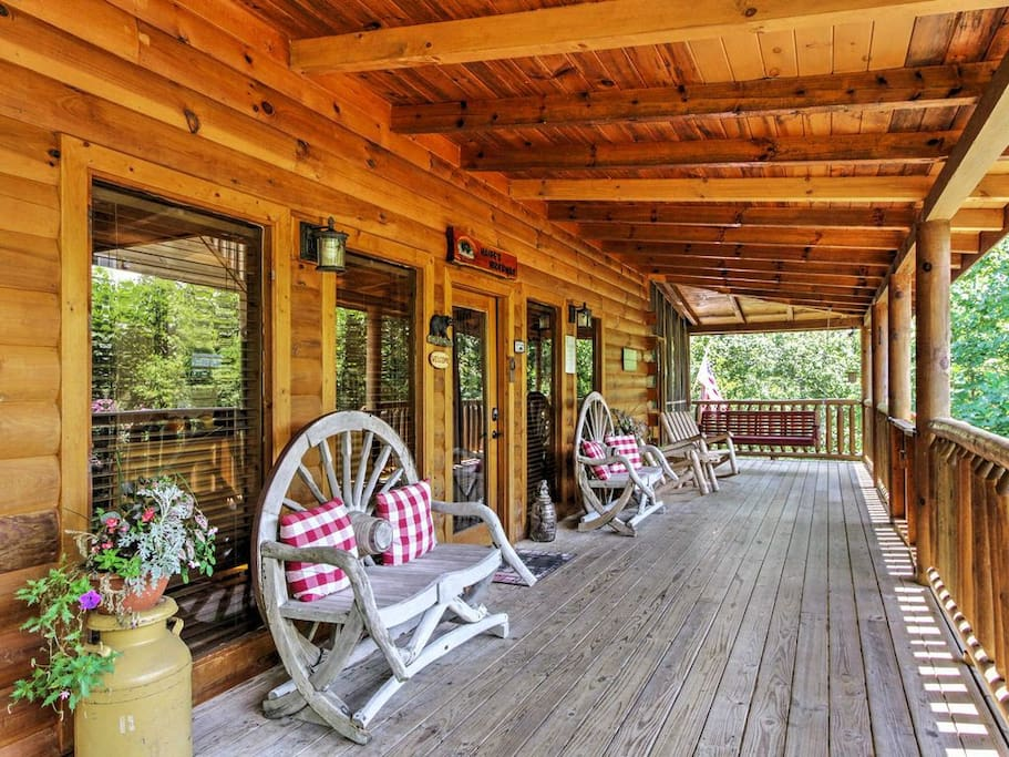 Another view of Large front Porch.
