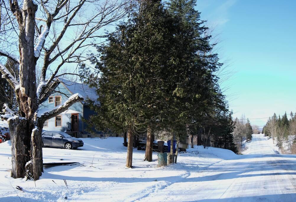 Toujours de la neige en Estrie!