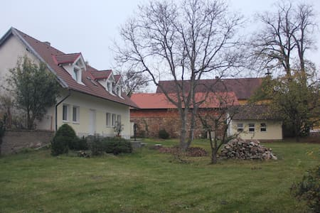 House with a large garden in a Bohemian small town
