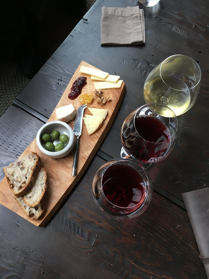 Beautiful food and wine