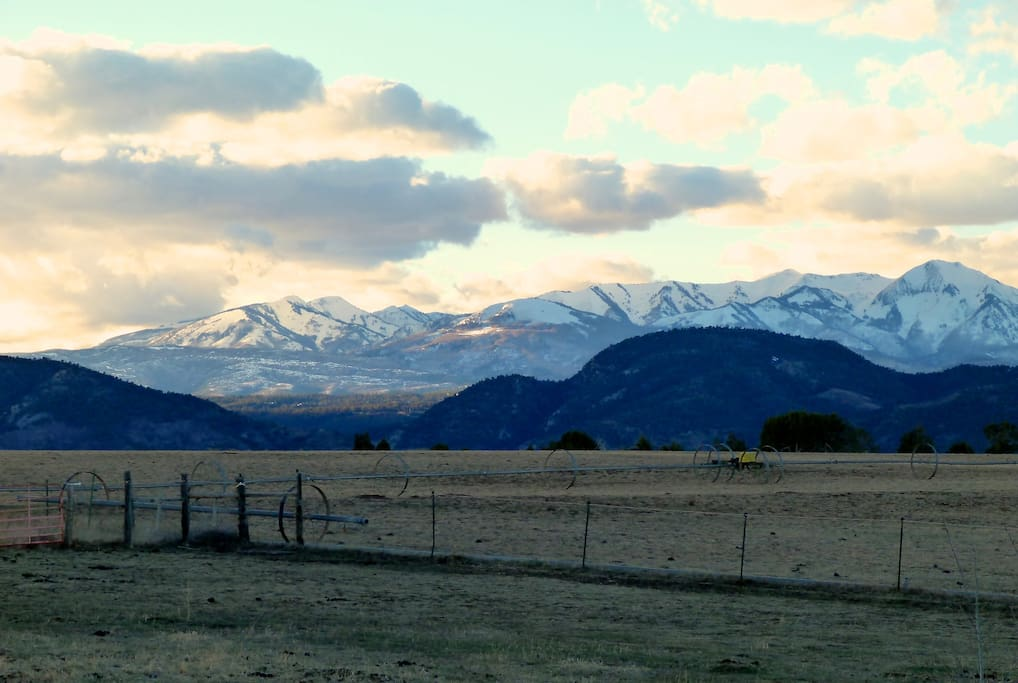 Big La Plata Mountain views from the fenced back yard, deck and upper porch.