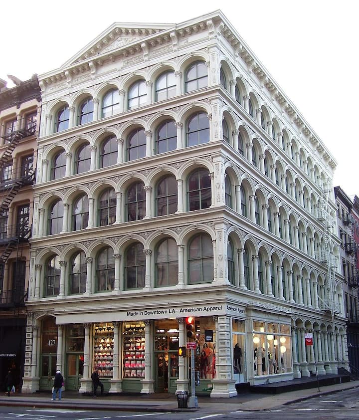 The majestic cast iron buildings of SOHO