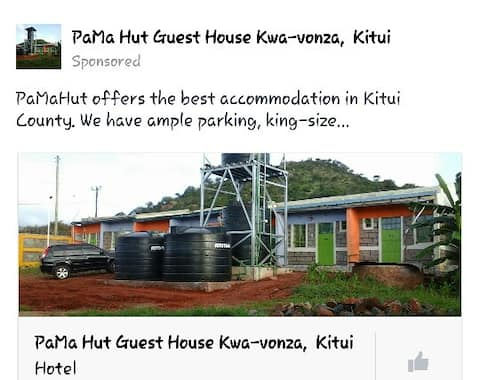 PaMa Hut guest house Kwa-vonza Kitui, Welcome