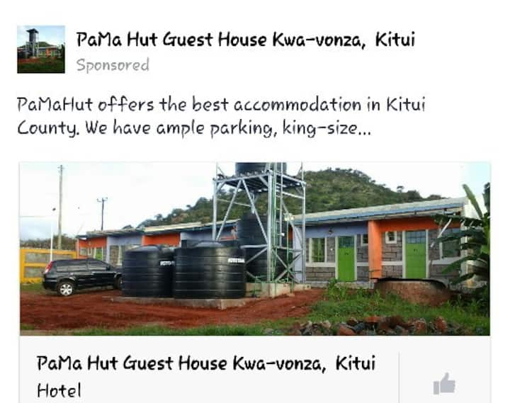 PaMa Hut guest house Kwa-vonza Kitui, Welcome