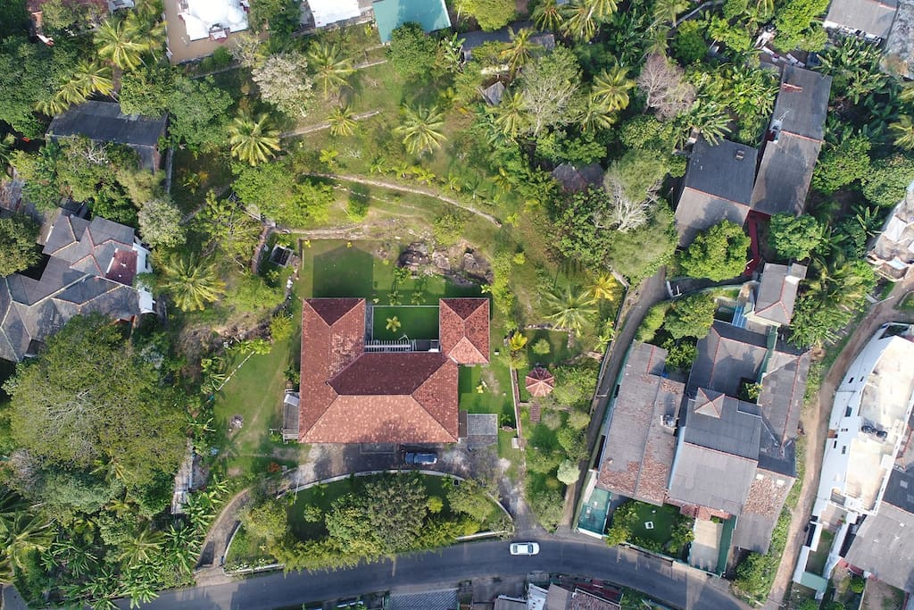 A stunning overhead View of the Villa