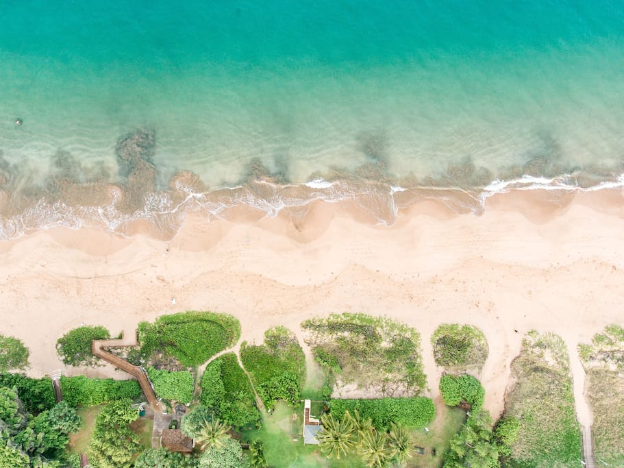 Arial picture taken directly above Kamaole Beach II located directly across the street from The Kutcher Condo!
