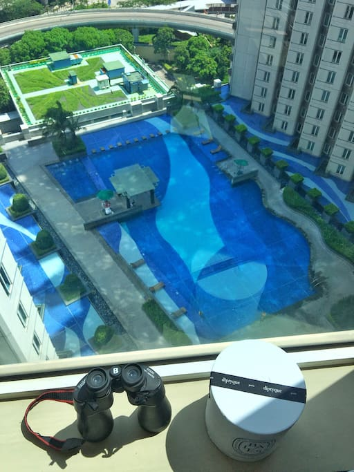 View of hotel swimming pool